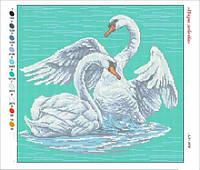 Пара лебедей. Картина для вышивки бисером