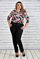 Женская шифоновая блуза больших размеров 0312-1  до 74 размера