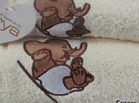 Набор махровых полотенец 40х60+50х100 - 2шт. Arya  Elephant кремовый
