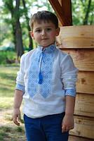 Вышиванка на мальчика белая
