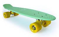 Пенни Борд «Мятно-Зеленый» 22″ Желтые Колеса / пенниборд скейт (penny board), скейтборд