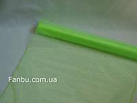 Органза флористическая на метраж,цвет салатовый (ширина 72см)