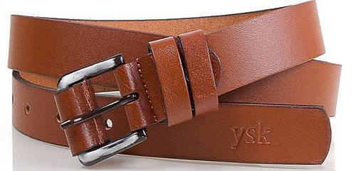 Стильный женский ремень из натуральной кожи Y.S.K. (УАЙ ЭС КЕЙ) SHI240-10, коричневый