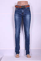 Женские джинсы  I.D.O ( код 05-717) больших размеров с высокой посадкой узкие