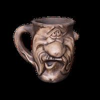 Кружка глиняная Мордочка №9 IA0924 Покутская керамика