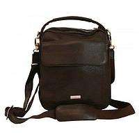 Мужская сумка кожаная VIP Collection 1444B Коричневая