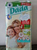 Подгузники Dada Premium 9-20 кг, Памперсы Dada(Дада) 4+ Extra Soft--50 шт.