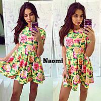 Женское летнее цветастое платье, 2 цвета