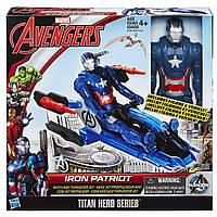 Набор 2в1 игрушка Железный Патриот  30СМ + автомобиль -  Iron Patriot, Titans, Avengers, Hasbro