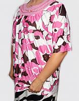 Красивая женская блуза-туника большого размера