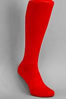 Гетры футбольные красные однотонные (плотные)