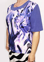 Женская трикотажная блузка большого размера