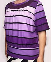 Трикотажная женская блуза большого размера