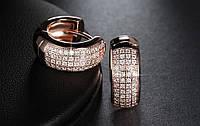 Серьги-кольца серебряные с напылением позолоты