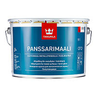 Краска алкидная Панссаримаали  Тиккурила для оцинкованных, алюминеевых, стальных поверхностей база С 2,7 л