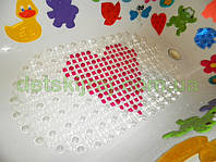 Антискользящий коврик сердечко