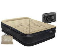 Надувная двуспальная кровать Intex 64404 (152-203-41 СМ.) + встроенный электронасос
