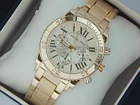 Женские кварцевые часы Michael Kors на металлическом браслете с римскими цифрами