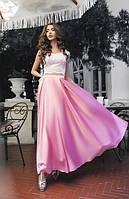 Костюм женский с розовой юбкой Новинка АФ/-0488