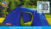 Двухслойная кемпенговая палатка Coleman 1009 москитной сеткой