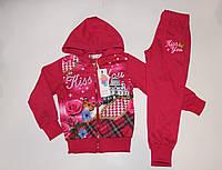 Спортивный костюм на девочку розовый Венгрия 4 -6 лет (рост 104-122).