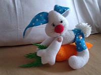 Кукла Зайчик с морковкой. Игрушка для ребенка. Украина