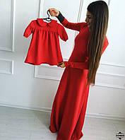 Детское платье Красное с воротничком