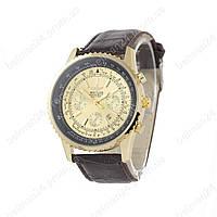 Мужские наручные часы Breitling Chronometre Navitimer Brown/Gold/Black - Gold