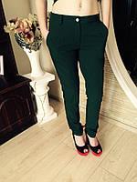 Элегантные классические женские брюки цвет-бутылка
