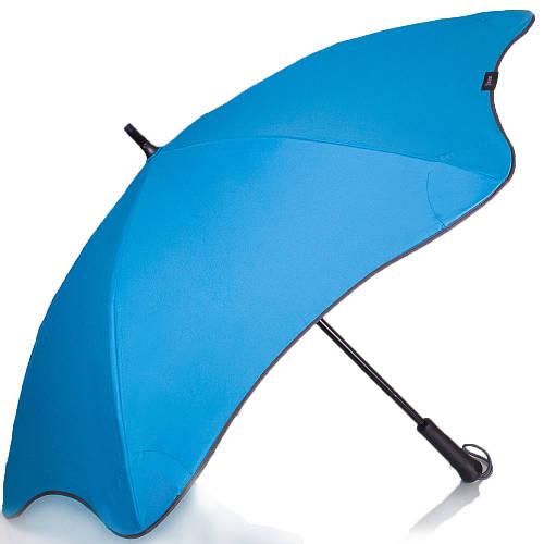 Противоштормовой женский зонт-трость, механический BLUNT (БЛАНТ) Bl-lite-plus-blue синий