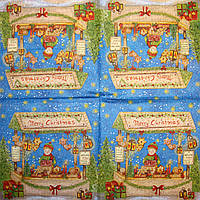 Салфетка для декупажа Рождественская ярмарка 952