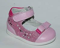 Туфли для девочек ортопедические р.17-19, детская кожаная ортопед обувь на первые шаги