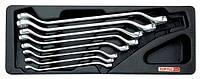 Набор ключей накидных 6-22 мм (угол 45°) 8 ед. (в ложементе) GAAT0808 Toptul