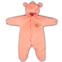 Детский комбинезон с капюшоном на кнопках с подкладкой, на рост - 62, 68, 74, 80 см. (арт.659-1)
