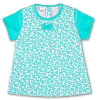 Детская блуза с коротким рукавом, на рост - 80, 92, 104 см. (арт:1-46)