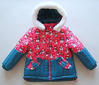 Зимняя куртка на девочку Снеговик (2-5 лет)