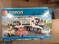 Конструктор детский M 38-B 0339 Автовоз, грузовик фура, Sluban, городская серия