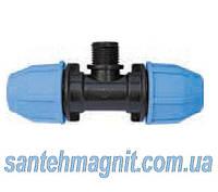 """Тройник 32* 1/2"""" Н*32 для соединения полиэтиленовых труб. Наружный водопровод."""