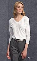 Женская блуза из вискозы с длинным рукавом молочного цвета. Модель Peg Zaps.
