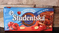 Шоколад Studentska Pacet молочный с вишней 180гр
