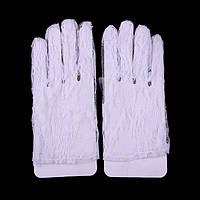 Перчатки белые, гипюровые