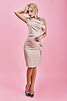 Пастельное женское платье красивого кроя, фото 1