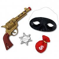 Набор Дикий запад (значок шерифа, черная маска, пистолет)