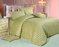 Комплект постельного белья Евро Love You Страйп-сатин 200Х220 бежевый