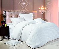 Комплект постельного белья Евро Love You Страйп-сатин 200Х220 белый 8-3