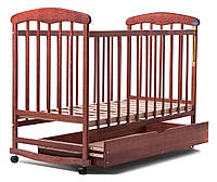 Детская кроватка Наталка с ящиком ясень темный
