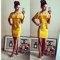 Молодежное платье с оборками