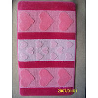 Комплект ковриков для ванной комнаты на резиновой основе - 130-278