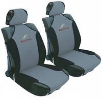Майки на сидения AG-5200 Racing ( авточехлы передние, черн./серые )