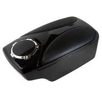 Подлокотник Vitol HJ 48004 D / G3 черный со вставками «черная кожа»